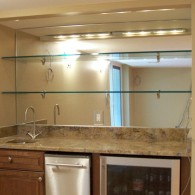 Bar Mirrorm With Glass Shelves