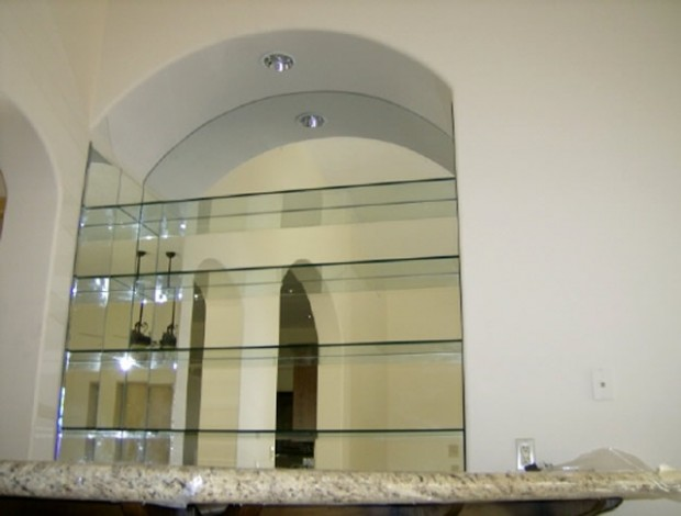 Glass Shelves - Custom Mirror- Mission Bay