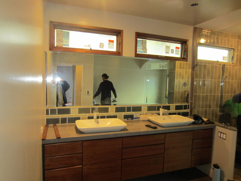 Bathroom Mirror With Lighting Cutouts - La Jolla - Patriot Glass and ...