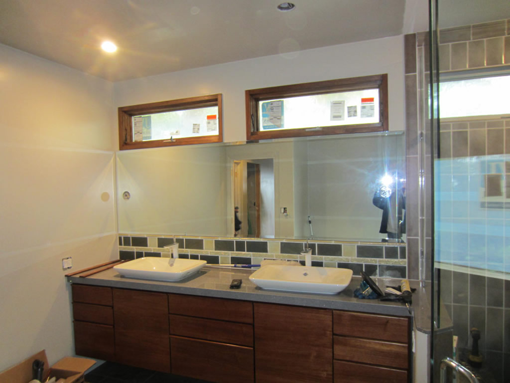 Bathroom Mirrors San Diego bathroom mirror with lighting cutouts - la jolla - patriot glass