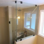 Frameless Glass Shower - Oil Rubbed Bronze Hardware