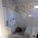 Frameless Shower Enclosure - Before