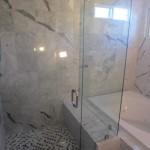 Frameless Shower Enclosure - Marble - Rancho Bernardo