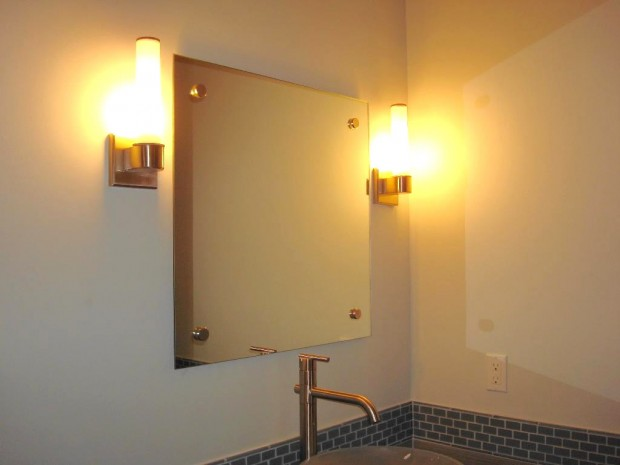 Bathroom Mirrors San Diego mirror on stand offs - san diego - patriot glass and mirror | san