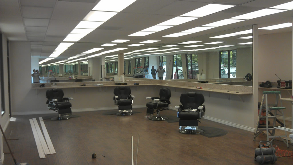 Custom Wall Mirrors custom barber shop mirrors - hillcrest - patriot glass and mirror