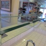 One half inch tempered glass shelves