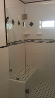 Three eighths inch shower enclosure
