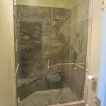 Custom glass shower installation