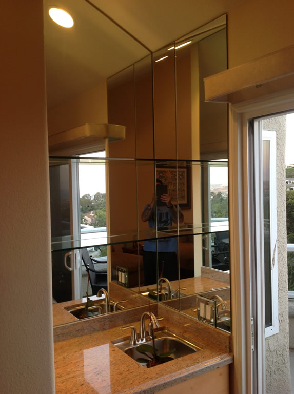 custom mirror and glass shelves patriot glass and mirror. Black Bedroom Furniture Sets. Home Design Ideas