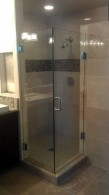 Frameless double shower door - San Diego