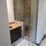 Frameless glass enclosure Del Mar