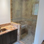 Frameless shower enclosure - chrome hardware