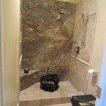 La Jolla shower enclosure installation