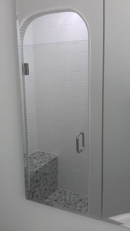Tempered Glass Shower Door   North Park   San Diego