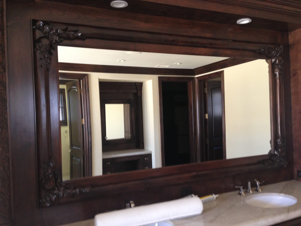 custom mirror wood frames rancho santa fe