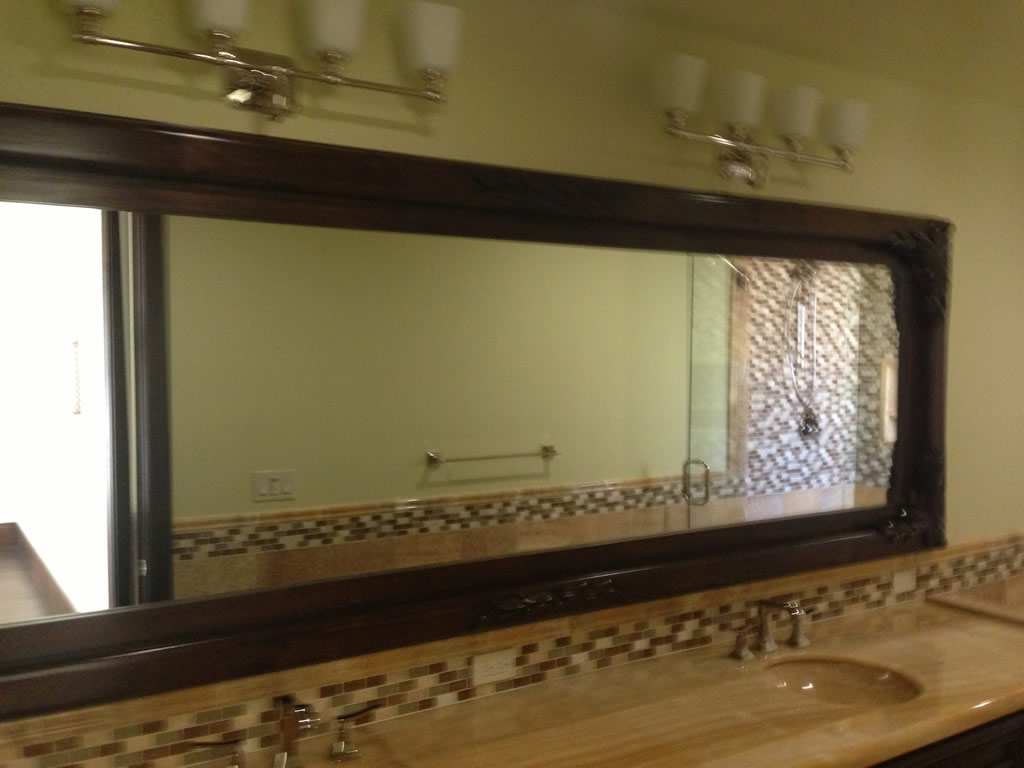 custom wood frame mirrors rancho santa fe
