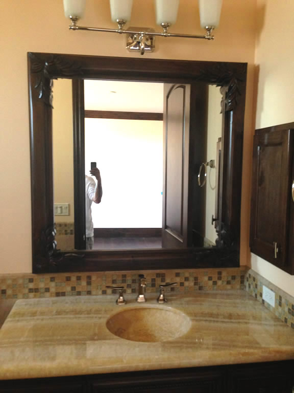 Bathroom Mirrors San Diego custom wood framed mirrors - patriot glass and mirror | san diego ca