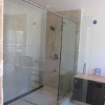 Large Glass Shower Enclosure Installation
