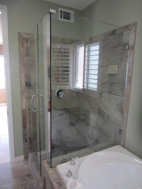 Frameless Shower Enclosure Hillcrest Patriot Glass And Mirror San Diego CA