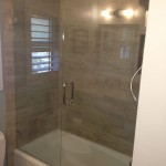 Frameless Glass Shower Enclosure Over Tub Ca