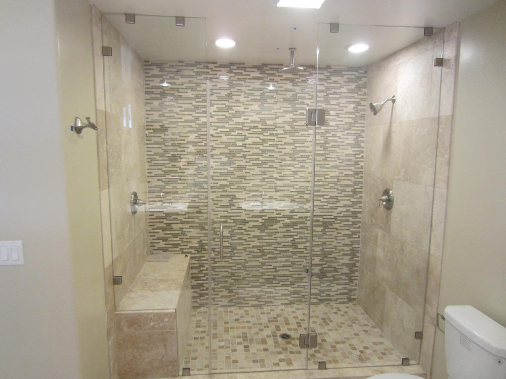 Bathroom Mirrors San Diego san diego frameless enclosure - patriot glass and mirror | san