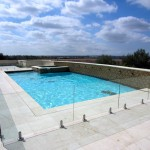 Glass Pool Railing Stainless Clamps La Jolla
