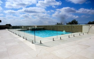 Half Inch Glass Pool Railing 5 Inch Stainless Clamps