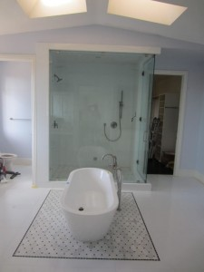 Large 1/2 Inch Frameless Glass Steam Shower Enclosure Del Mar