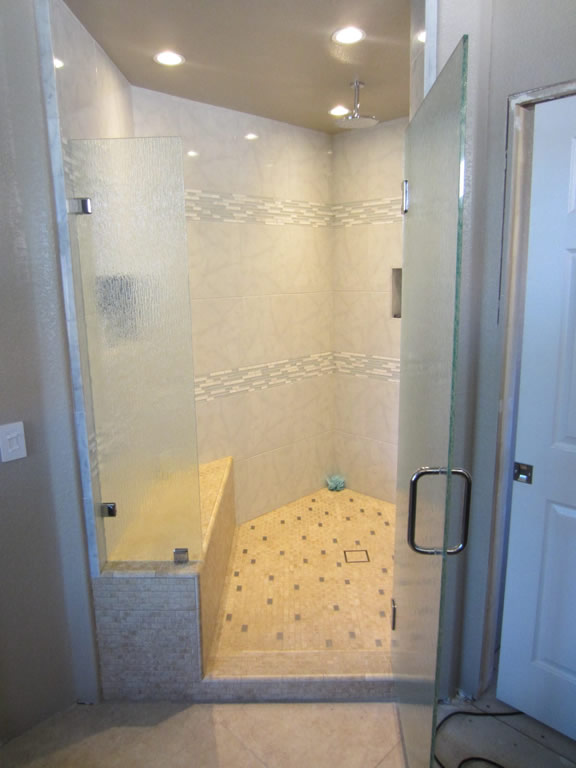 Rain Glass Shower Door Installation San Diego