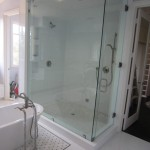 Very Large 1/2 Inch Frameless Glass Steam Shower Enclosure Del Mar