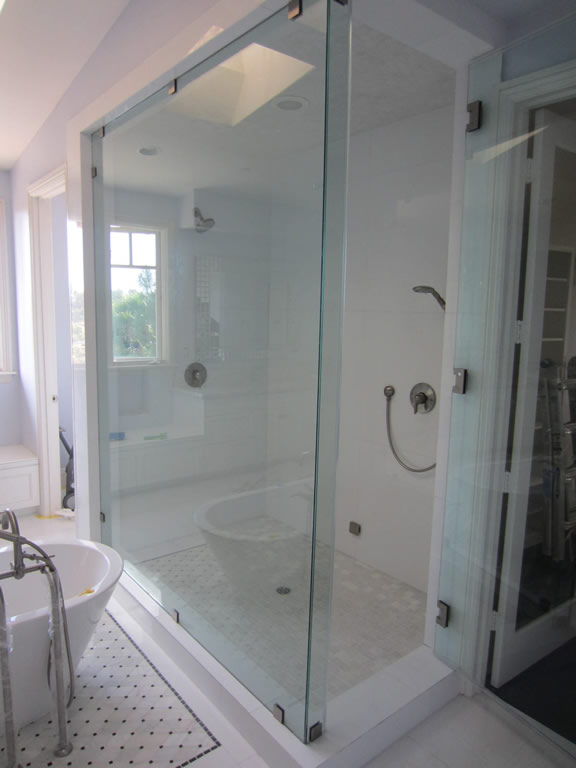 Large Frameless Glass Enclosure Patriot Glass And Mirror