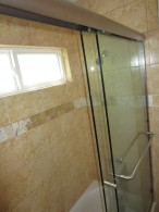 "3/8"" Glass Sliding Bi Pass Shower Door"