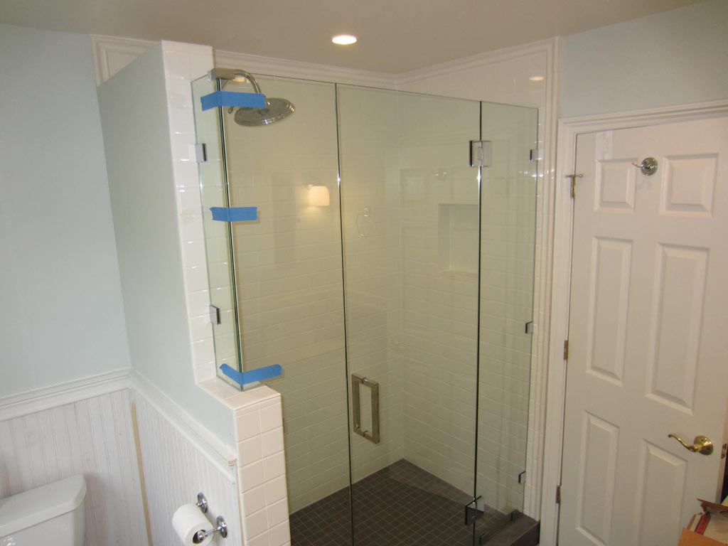 frameless glass shower enclosure point loma