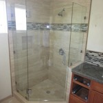 Frameless Neo Angle 3 8 Inch Glass Shower Enclosure Hillcrest