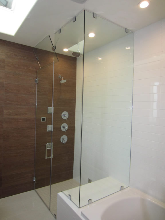 Glass Steam Shower With Vent Patriot Glass And Mirror San Diego Ca