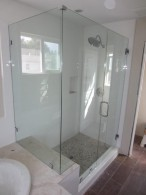 Framless Shower Enclosure With 90 Degree Return Panel La Mesa
