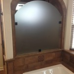 Arched Custom Acid Etched Glass Shower