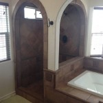 Custom Arched Shower Glass Installation San Diego