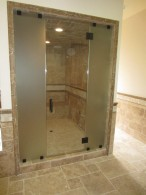 Acid Etched Steam Shower Glass Enclosure