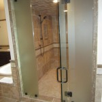 Custom Acid Etched Glass Steam Room North Park