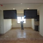 Custom Gym Mirror Wall Tv Cutouts Rancho Bernardo