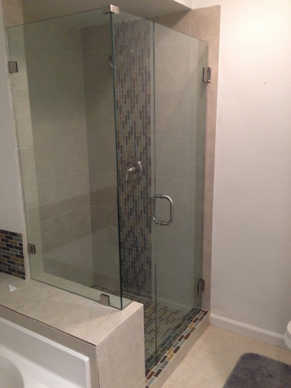 Shower Enclosure Notched Around Pony Wall - Patriot Glass and Mirror ...