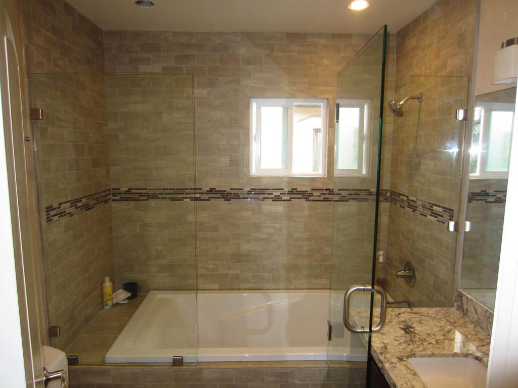 Sliding Shower Door Alternative - Patriot Glass and Mirror | San ...