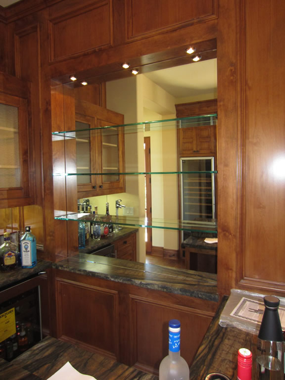 Glass Shelves And Bar Mirror - Patriot Glass and Mirror | San Diego CA