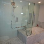 Beautiful 3/8 Glass Shower Enclosure Installation