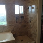 Before Custom Glass Shower Enclosure Installation