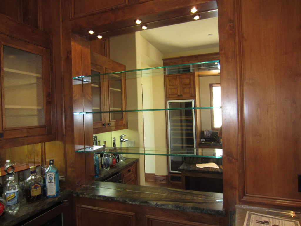 glass shelves and bar mirror patriot glass and mirror. Black Bedroom Furniture Sets. Home Design Ideas