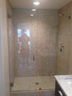 1/2 Inch Glass Shower Enclosure In Little Italy Neighborhood San Diego