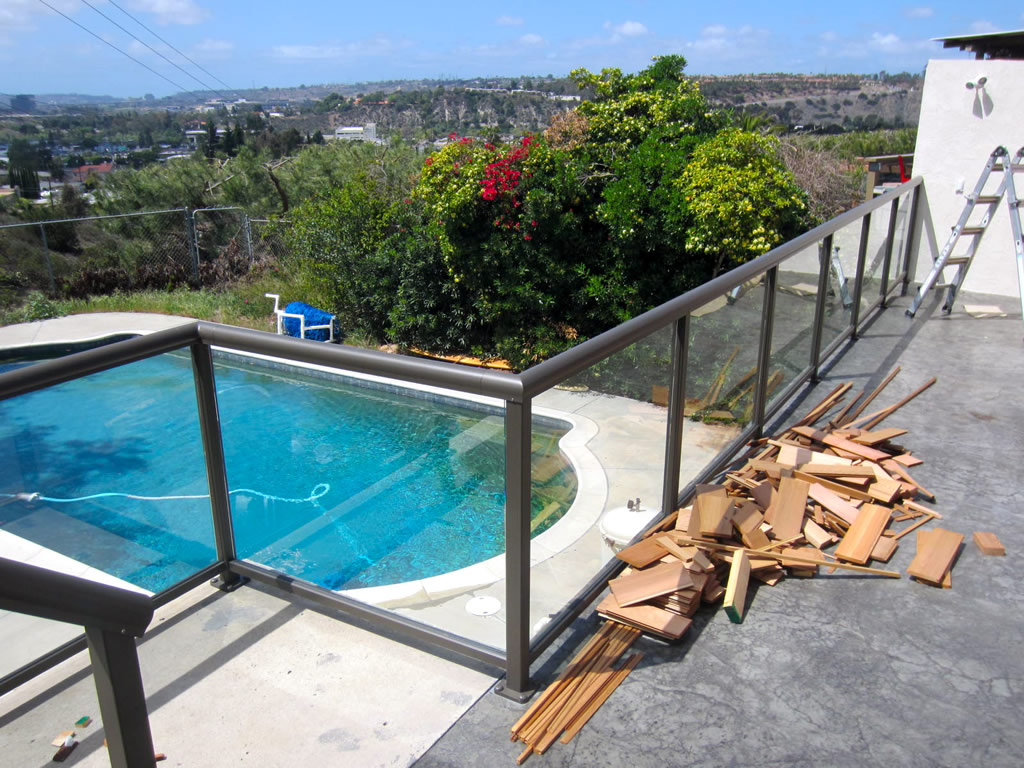 New tempered glass railing system patriot and