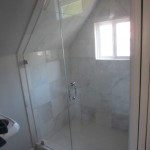 Angled Frameless Shower Enclosure Installation